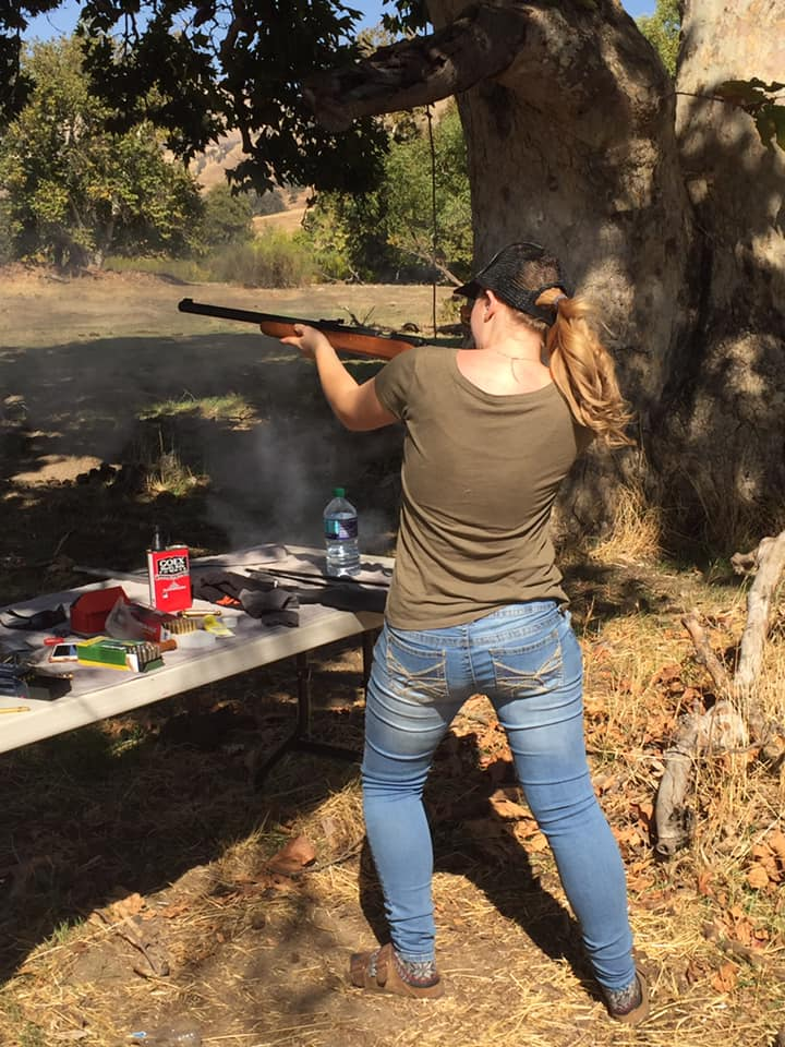 Shooting black powder took us back in time to our American roots and heritage.