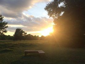 A peaceful sunset over Carmel Mooney's Texas farm.