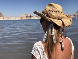 Carmel L Mooney on a comped travel writing trip to Lake Powell.