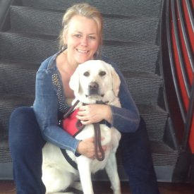 One of over 50 service animals Carmel Mooney has trained for a special needs family.