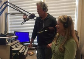 Carmel L Mooney co-hosting a radio show on travel, dining, and entertainment.