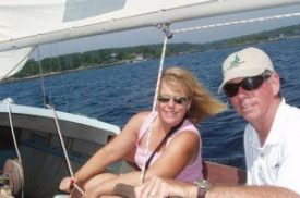 Carmel Mooney and her husband sail from island to island in Maine on a press trip.