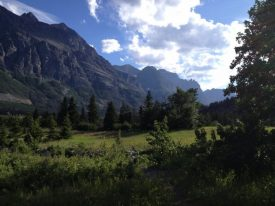 Morning view at Glacier National Park on a press trip.