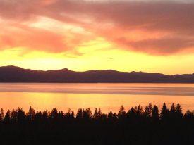 Sunset over Lake Tahoe.