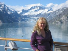 Carmel L. Mooney on a Media cruise to Alaska.