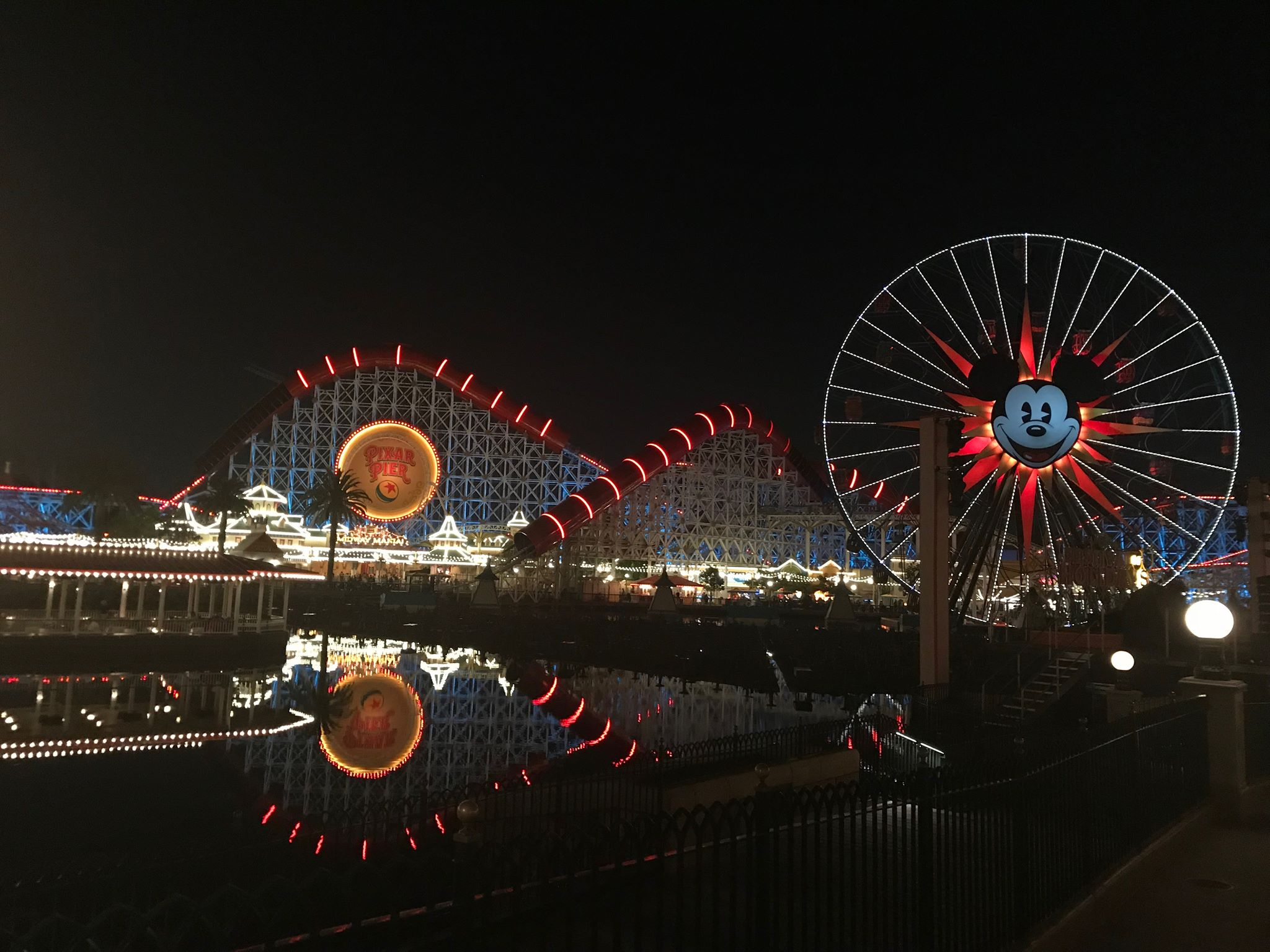 California Adventure in the evening.