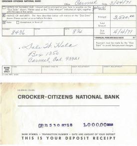 Crocker Bank in Carmel, California.
