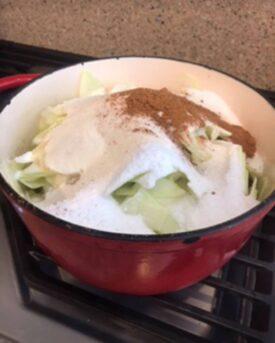 zucchini mock apple pie simmer